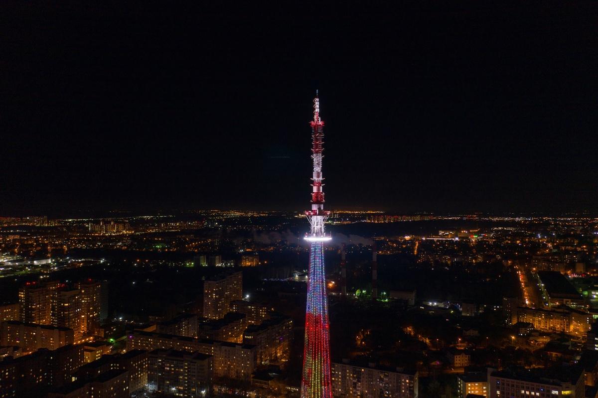 Подсветка нижегородской телебашни включится 00:43 9 мая - фото 1