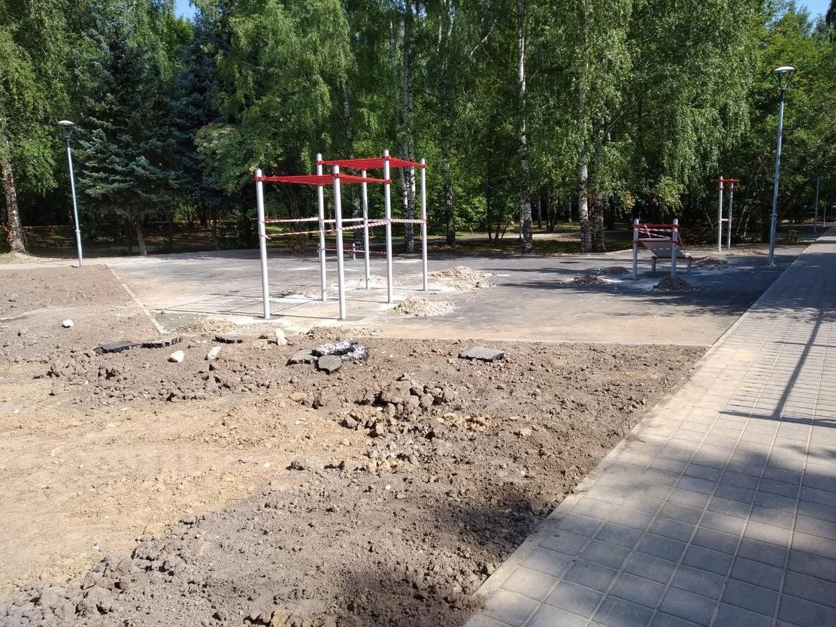 Спортэлементы монтируют на воркаут-площадке в сквере Приокского района - фото 1
