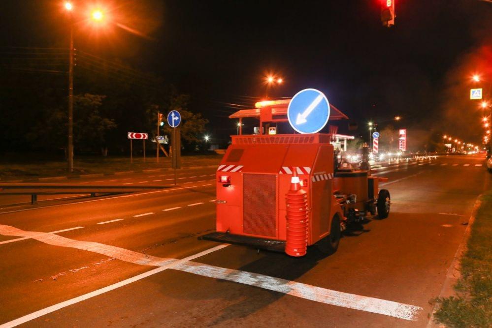 100 квадратных метров разметки нанесли на нижегородские дороги - фото 1