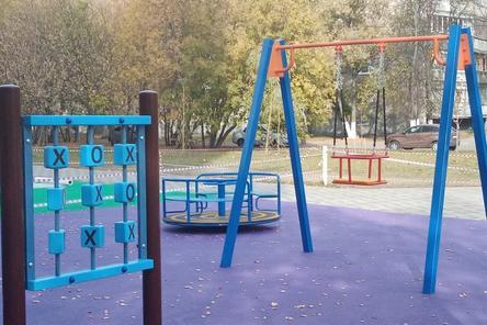 Дополнительный детский городок установили в сквере на улице Прыгунова