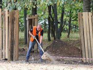 Демонтаж конструкций в парке «Швейцария» завершен на 80%