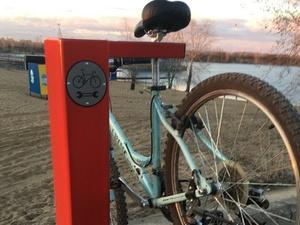Первая стойка для ремонта велосипедов появилась в Нижнем Новгороде