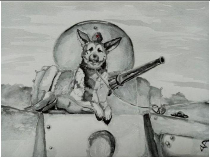 Павловская школьница стала призером всероссийского конкурса «Портрет фронтовой собаки» - фото 1