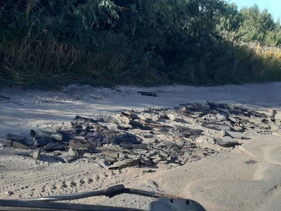 Дорогу в Кстове отремонтировали старыми сапогами - фото 1