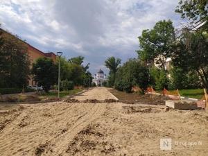 Благоустройство сквера Ярмарочный идет с отставанием от графика