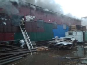 Крупный пожар ликвидировали на пилораме в Дальнем Константинове