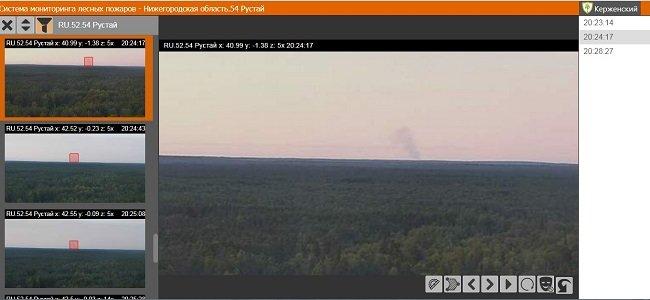 Камера в Керженском заповеднике засекла пожар в 70 км от поселка Рустай - фото 3