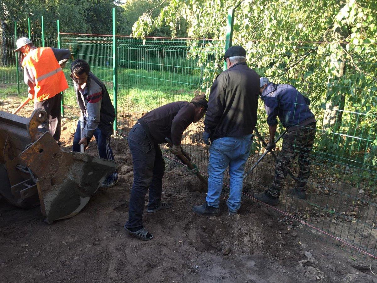 На 95% готова площадка для выгула собак в парке Пушкина - фото 1