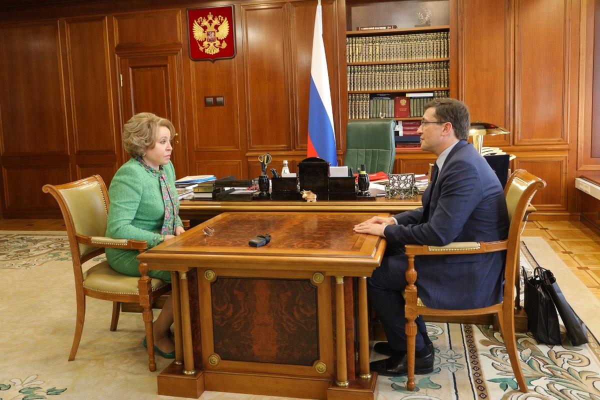 Никитин представил Матвиенко проекты развития Нижегородской области - фото 1