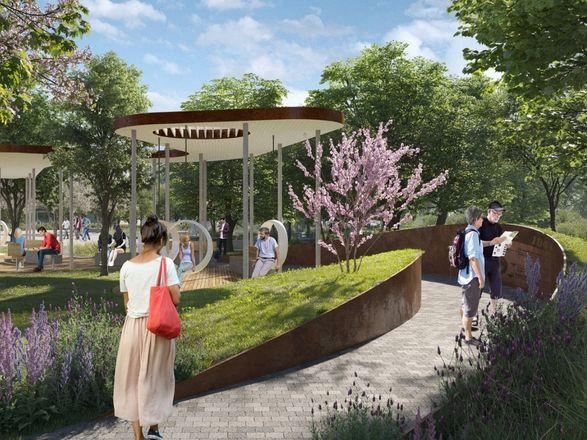 Детская площадка в виде холмов и подсветка деревьев появятся на площади Маршала Жукова - фото 6