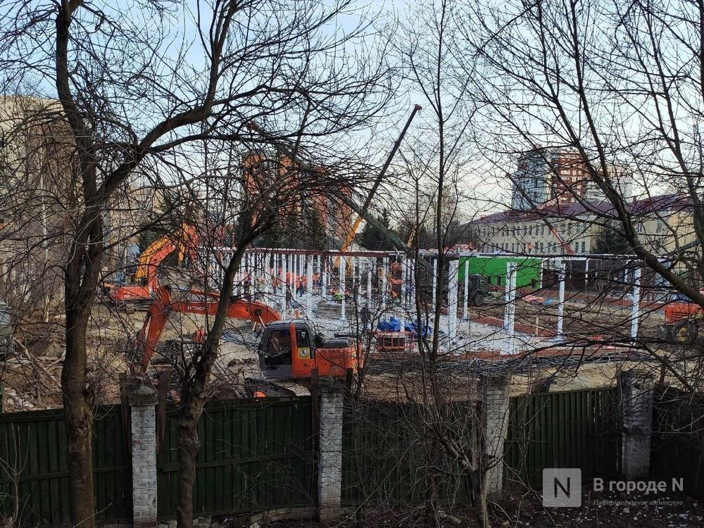 Новый корпус госпиталя оперативно строят на Ижорской в Нижнем Новгороде - фото 1
